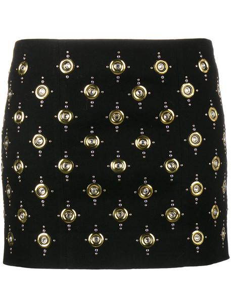Balmain skirt mini skirt mini women spandex embellished cotton black