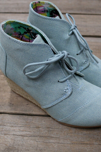 shoes blue canvas oxfords wedges heel amazinglace amazinglace.com espadrilles