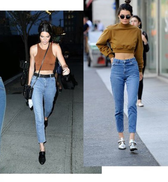 35169b7b85 jeans, kendall jenner, mom jeans, blue jeans, denim - Wheretoget