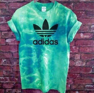 shirt green turquoise adidas girl fashion adidas goal green shirt turquoise shirt dégradé adidas originals adidas shirt mint etsy