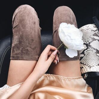 shoes otk boots over the knee boots long boots boots nude boots suede boots long suede boots angl