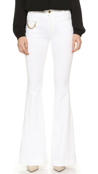 jeans flare white