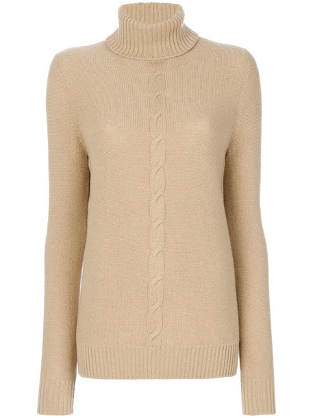 Loro Piana sweater turtleneck turtleneck sweater women nude