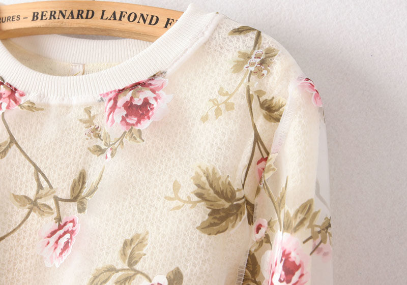 Wholesale Popular flower sweatshirts round collar saucy stylish ladies clothes TL-YPWY123101 - Lovely Fashion