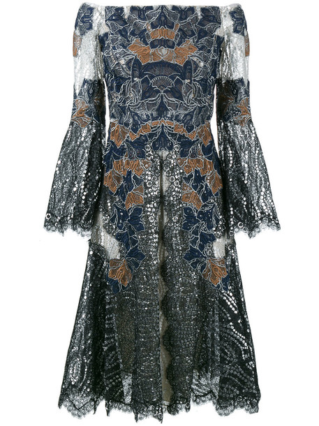 Jonathan Simkhai dress lace dress metallic women lace black silk