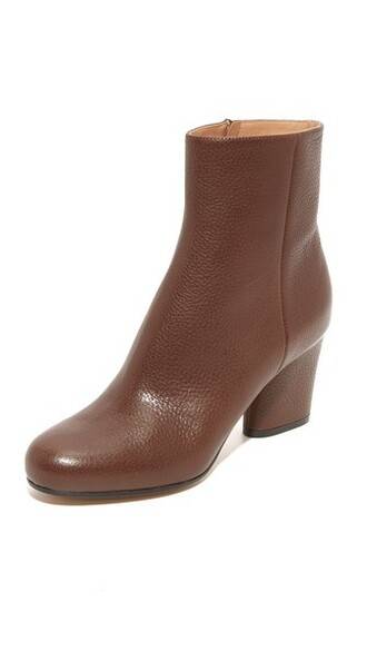 dark booties leather brown shoes