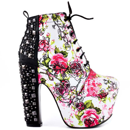 Creepy Rose Bootie - White, Iron Fist, 99.99, FREE 2nd Day Shipping!