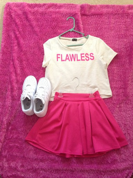 skirt pink skirt shoes flawless