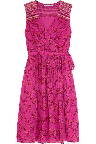 dress floral print silk