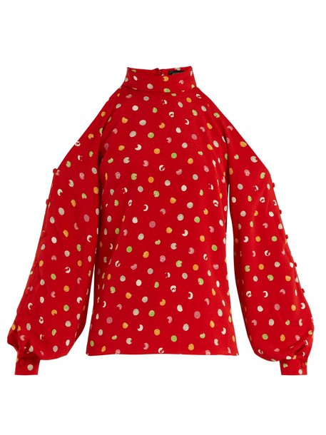 ANNA OCTOBER top cut-out red