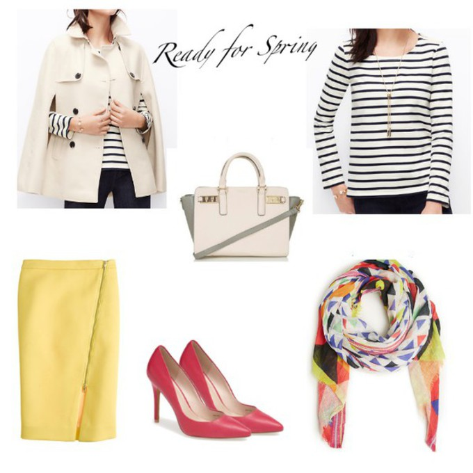 scarf shoes coat top bag skirt blogger red heels lilly's style printed scarf cape striped top scarf red
