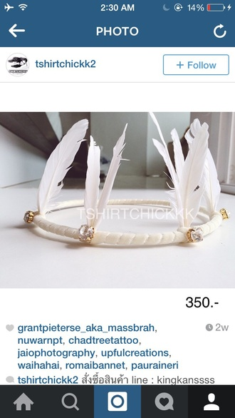 hair accessories boho hair band feathers