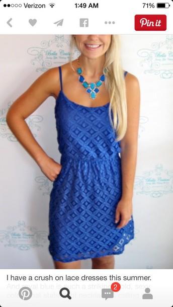 dress blue dress lace dress summer dress
