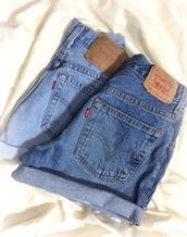 levi's,rolled up shorts,denim shorts,etsy,High waisted shorts,shorts,cuffed shorts,cut off shorts