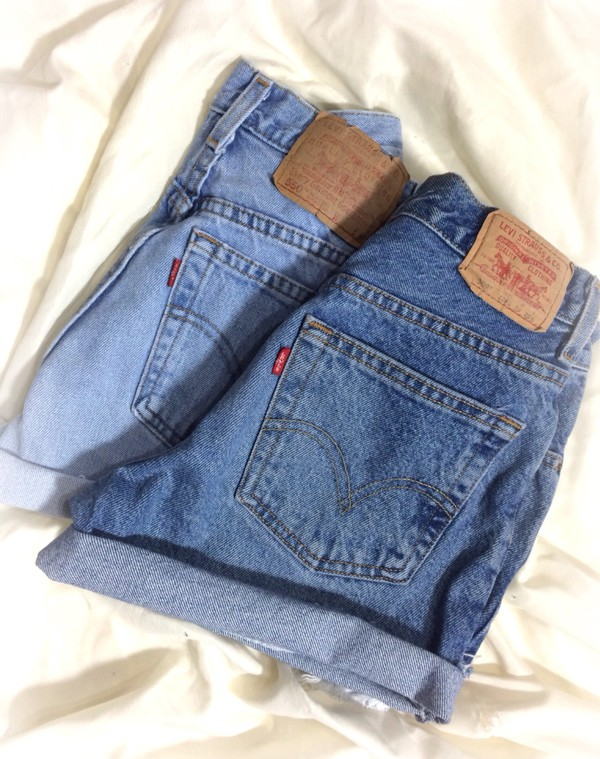 levi's rolled up shorts denim shorts etsy High waisted shorts shorts denim shorts cuffed shorts cut off shorts
