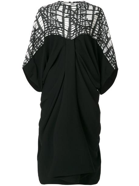 dress women draped black
