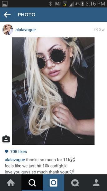make-up sunglasses eyebrows lips hair make-up