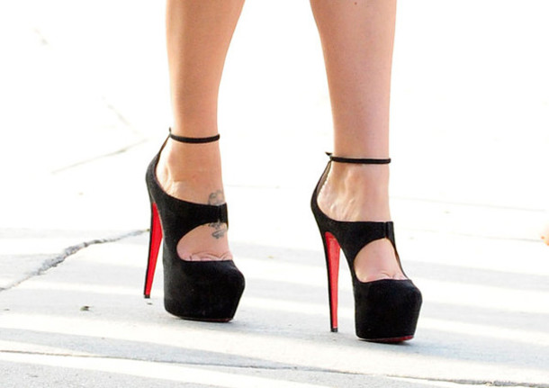 Shoes: high heels, sexy, black, red - Wheretoget
