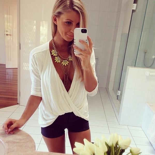 Cross top blouse