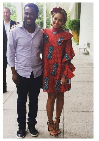 dress sandals beyonce spring outfits spring dress african print red dress long sleeves brown shoes