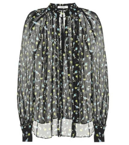 Dorothee Schumacher Nightfall Meadow silk blouse in black