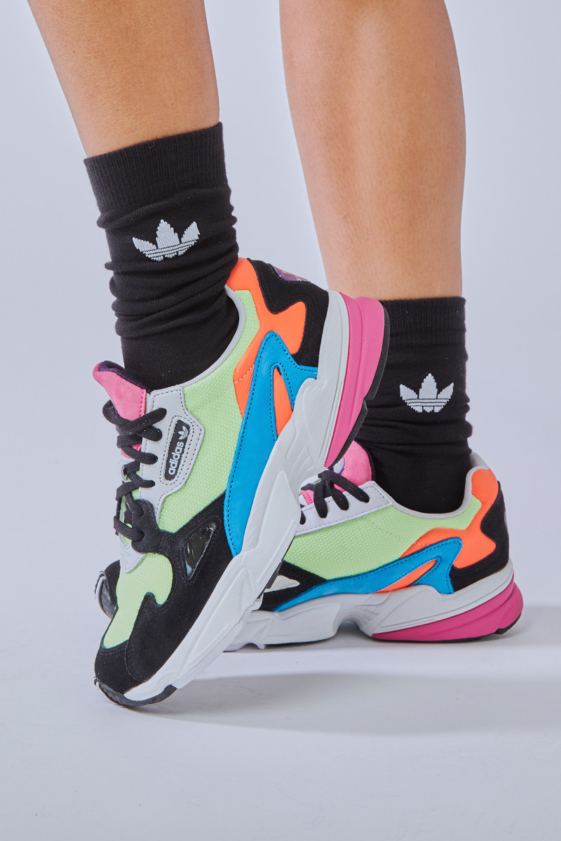 adidas Originals Falcon Shoes in Hi-Res Yellow and Core Black