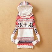 dress,vintage,hooded,pattern