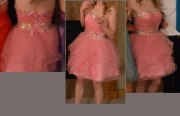 dress prom dress homecoming dress pink pink dress