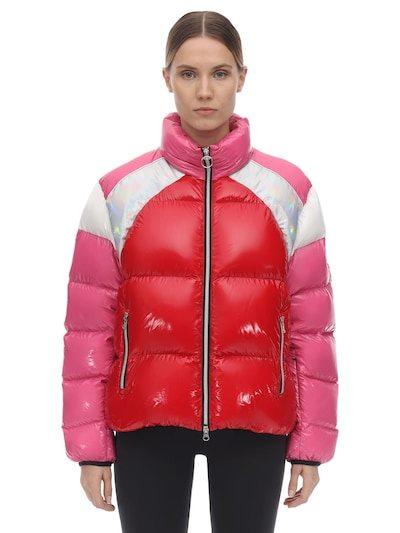 COLMAR ORIGINALS Lvr Exclusive Nylon Down Jacket Fuchsia/white