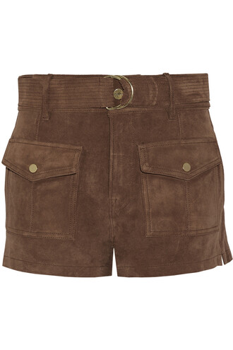 shorts suede shorts suede light brown