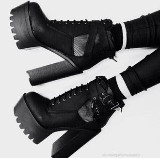 shoes platform shoes heels straps leather