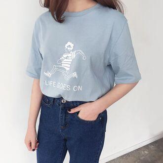 shirt life goes on blue runner tumblr