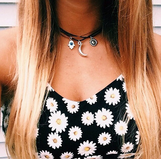 jewels moon choker necklace necklace top black necklace