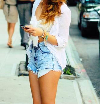 shorts denim shorts tumblr outfit tumblr blouse top