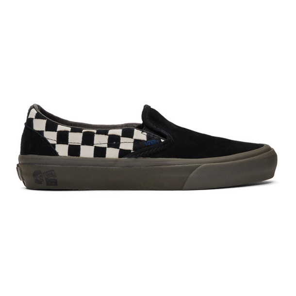 Vans Black & White Taka Hayashi Edition Slip-On LX Sneakers