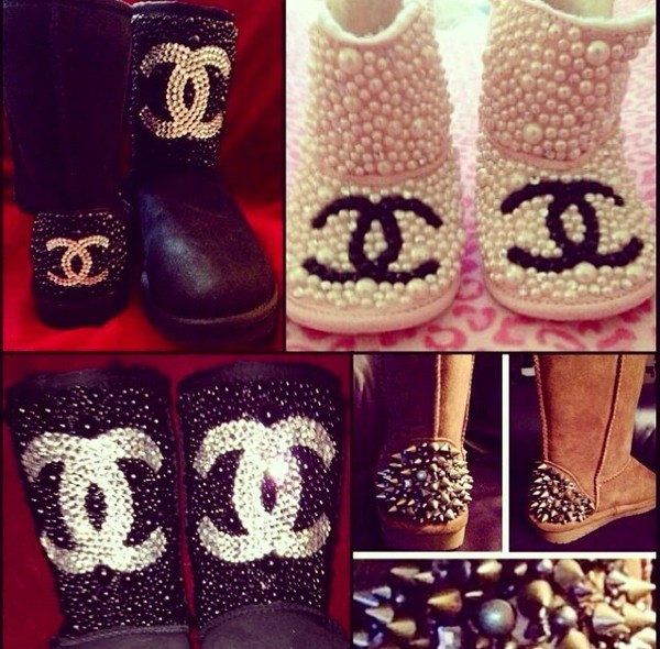 Shoes Custom Uggs Chanel Wheretoget