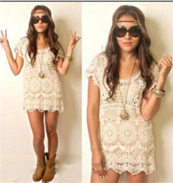 Short Tan Dress