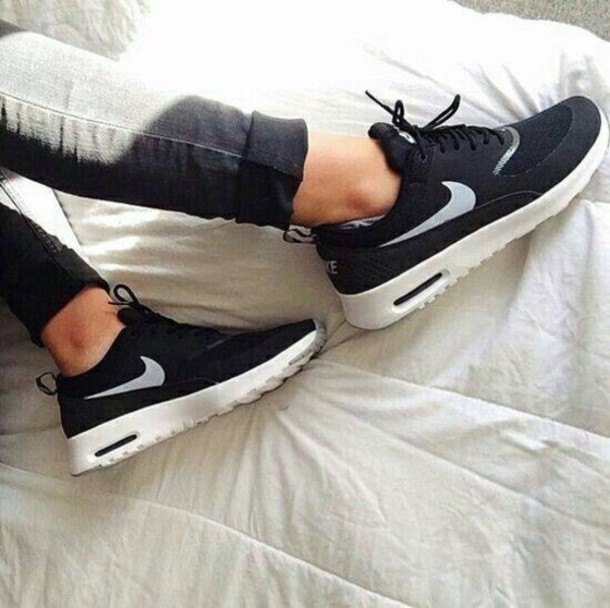 black nike running shoes tumblr. shoes nike running sneakers black white and tumblr s