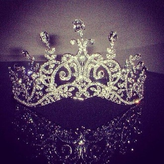hair accessory silver princess tiara queen pretty gliter