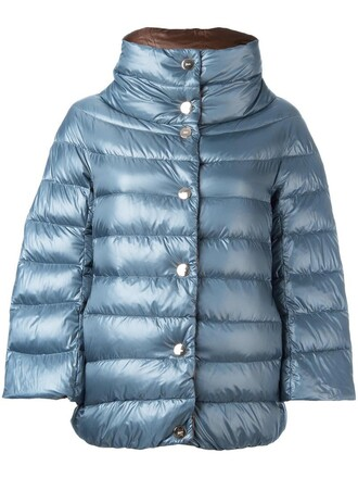 jacket oversized women quilted blue