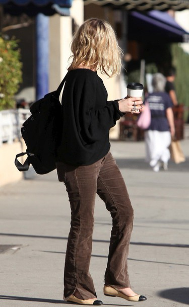 pants sweater flats ballet flats ashley olsen