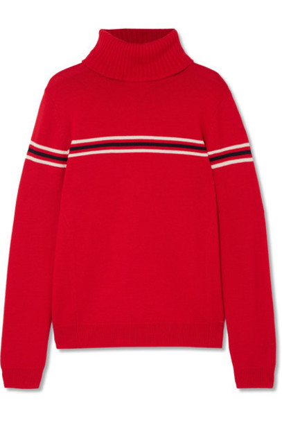 Perfect Moment sweater turtleneck turtleneck sweater wool red