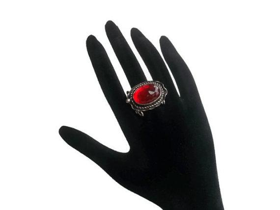 Valentine's day gift   ruby  jewellery  size 7   by guldentaki