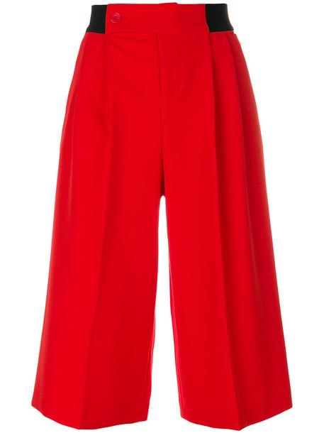shorts long women spandex red