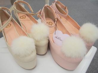 shoes kawaii lolita nymphet fluffy pastel jfashion
