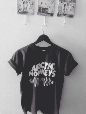 shirt boyfriend tee tee t-shirt tumblr arctic monkeys band t-shirt artic monkeys shirt