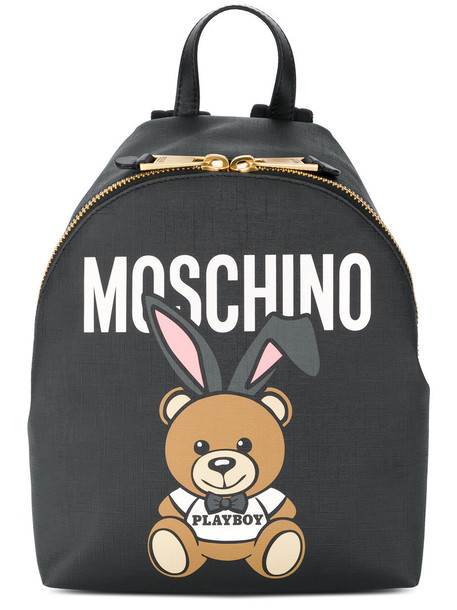 Moschino bear women backpack black bag