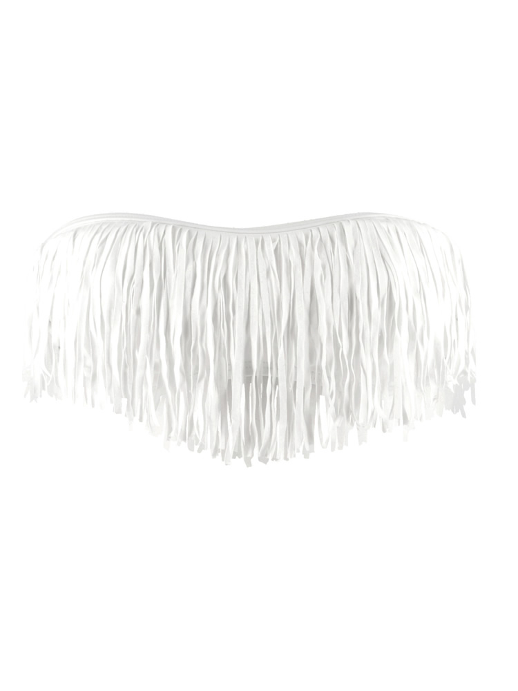 L space 2012 white fringe dolly bandeau