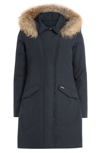 parka fur blue coat