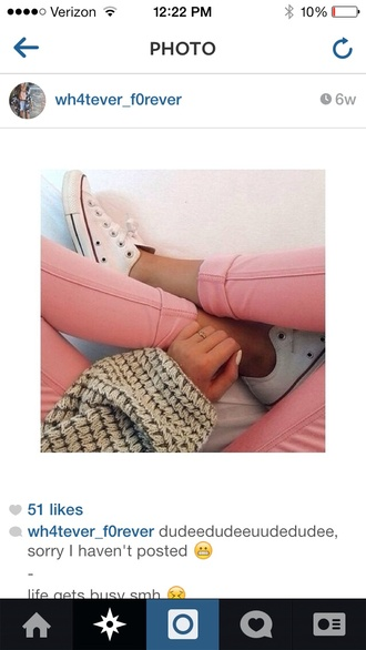 cute pink jeans pink jeans pastel pink baby pink skinny jeans